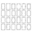 art deco vintage linear frames vector image