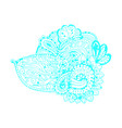 blue abstract curl doodle element isolated on vector image vector image