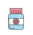 bottle pill pharmaceutical medicine to treatment vector image vector image