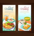 breakfast vertical banners vector image vector image