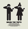 Brushes The Teeth Black Symbol Graphic vector image vector image