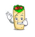 call me burrito mascot cartoon style vector image vector image