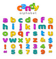 candy color alphabet vector image