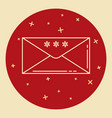 christmas mail icon in thin line style vector image