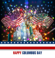 Columbus day celebration design vector image vector image