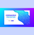 coronavirus prevention landing page vector image vector image