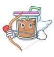 cupid bubble tea character cartoon vector image vector image