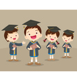 cute graduation students vector image vector image