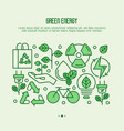 ecology concept with thin line icons vector image vector image
