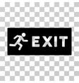 emergency exit icon vector image vector image