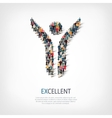 excellent people crowd vector image