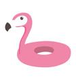 flamingo shaped float cartoon isolated design icon vector image