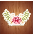 floral decoration design vector image vector image