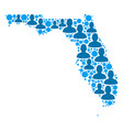 florida map population people vector image vector image
