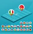 football european 2021 championship isometric vector image vector image