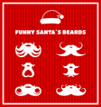 Funny beards of Santa Claus vector image vector image