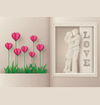 greeting card of love and valentines day vector image
