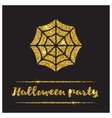 Halloween gold textured web icon vector image vector image