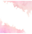 hand painted pink watercolor border texture vector image vector image