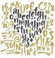 handwritten script font brush font vector image vector image