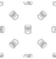hawaii wood tiki idol pattern seamless vector image vector image