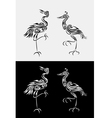 heron set vector image vector image