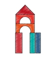 Isolated castle toy design vector image vector image