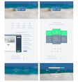 landing page in flat style with features icons vector image