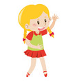 little girl with blond hair vector image