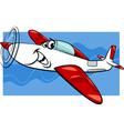 low wing air plane cartoon vector image