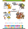 math educational activity vector image vector image