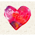 Merry Christmas heart watercolor vintage card vector image vector image