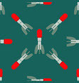 missile rocket seamless pattern vector image vector image