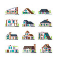 modern buildings living houses villa townhouse vector image