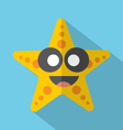 Modern Flat Design Starfish Icon vector image vector image