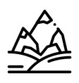 mountains with snow icon outline vector image vector image