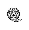 movie camera reel hand drawn outline doodle icon vector image vector image