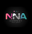nna n n a three letter logo icon design vector image vector image