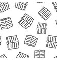 open book icon seamless pattern background vector image