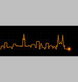 ottawa light streak skyline vector image vector image