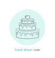 pastry icon line element of vector image