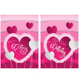 pink greeting card happy mothers day vector image vector image