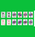 pinochle cards deck vector image