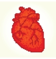 Pixel art heart isolated