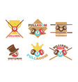 pool or billiards icons set vector image vector image