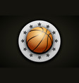 premium basketball label vector image