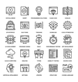Program Coding Icons vector image