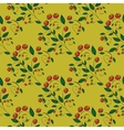Red berries on a yellow background vector image vector image