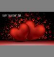 red love romantic hearts february 14 valentines vector image vector image