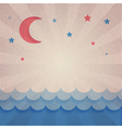 Retro background with moon and stars vector image vector image